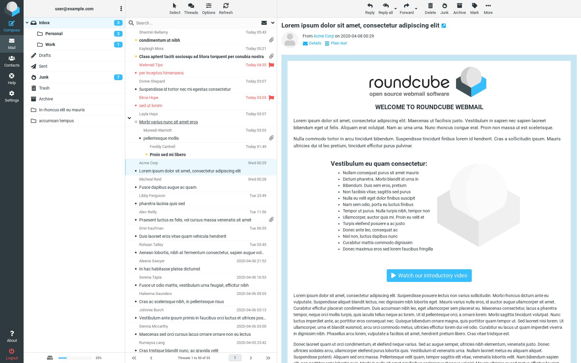 Почтовый клиент Roundcube